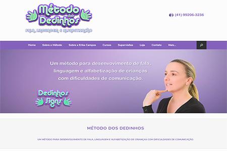 Website Método dos Dedinhos