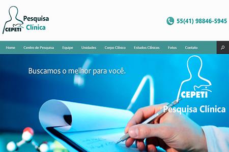 Website CEPETI Pesquisa Clínica