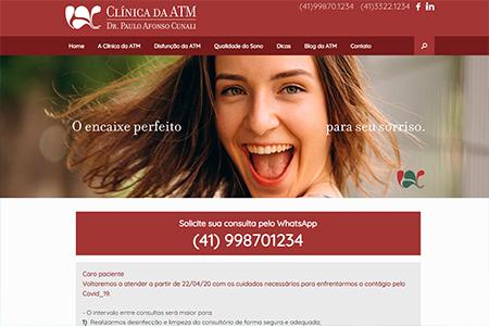 Website Clínica da ATM